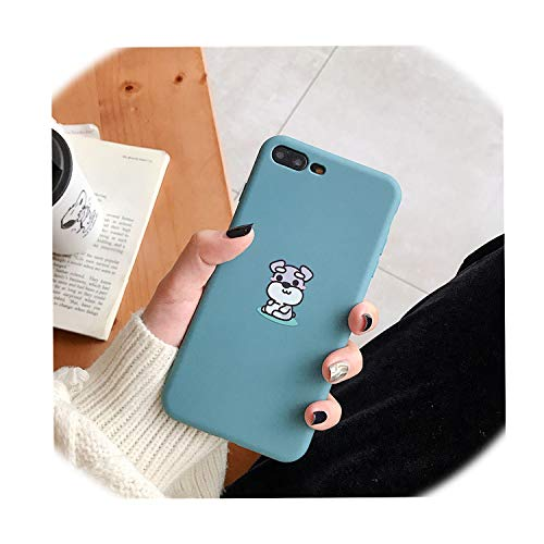 Fashion Cute pet Dog Soft Silicon Cover case for iPhone 6 6S 7 7plus 8 8plus X XS XR Max Bulldog Standard Schnauzer Phone Coque,Style 2,for iPhone 7plus]()
