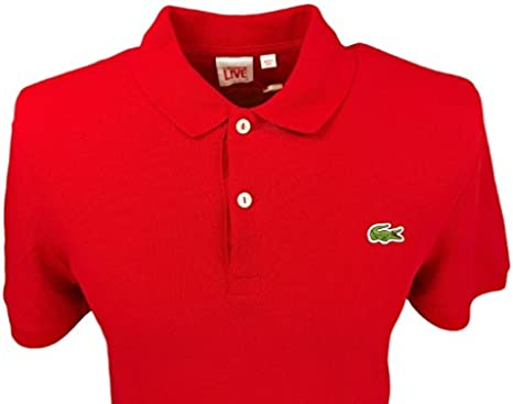 Lacoste Polo Live Ultra Slim Fit para Hombre Rojo Rojo Rojo ...