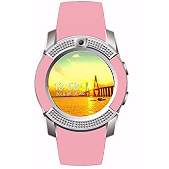 SMARTWATCH V8/IOS/ANDROID (Rosa): Amazon.es: Relojes