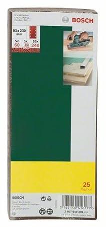 Bosch Schwingschleifer PSS 200 A K/örnung 60//80//120//240, 8 L/öcher + Bosch DIY 25tlg Schleifblatt-Set verschiedene Materialien f/ür Schwingschleifer Schleifblatt, Bosch Microfilter, Koffer, 200 Watt