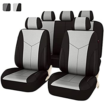 NEW ARRIVAL Car Pass AIR FRESH Universal Seat Covers Set Airbag Compatiable Black