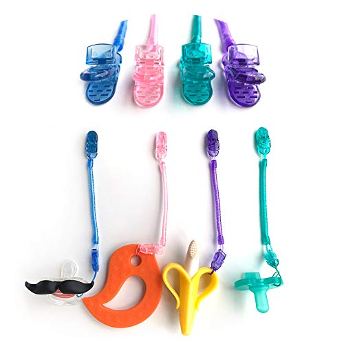 Schnullerband Schnullerketten mit Clip Baby Schnullerketten Clips Schnuller-Unisex