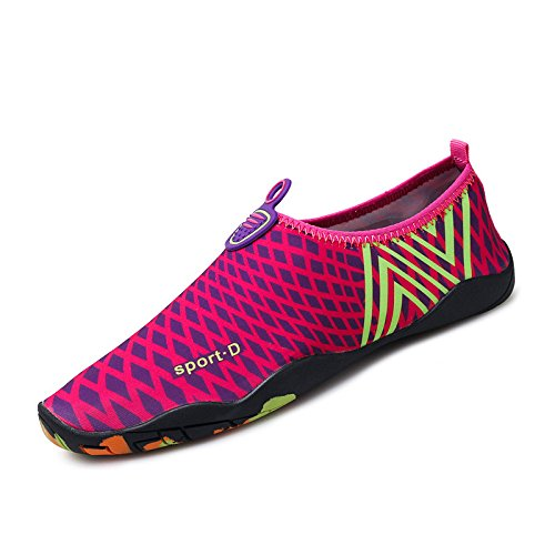 light Ultra rosa esquí transpirables Skid la Anti zapatos zapatos playa 2 calzado SX natación Lucdespo de piel de roja acuático cuidado q5wHdq