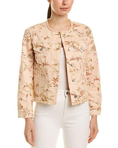 (LA VIE Womens Rebecca Taylor Belle Denim Jacket, S, Pink)