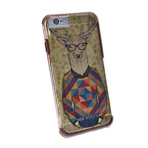 X-Doria 446143Revel Caso para Apple iPhone 6/6s Hipster Deer