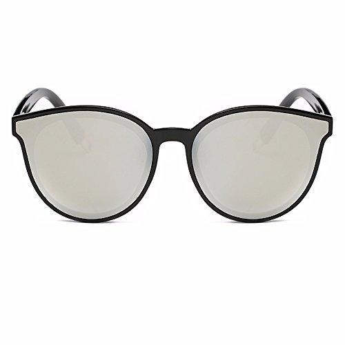 gafas sol de XIAOGEGE gafas La gris sol Sra nuevas Gris de w1wYq8