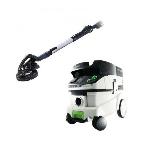 Festool P26571579 Planex Drywall Sander with CT 26 E 6.9 Gallon HEPA Dust Extractor