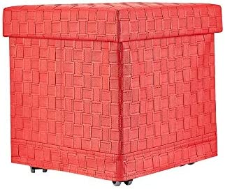 Song Han 15 PVC Grid with Wheels Ottoman 38X40