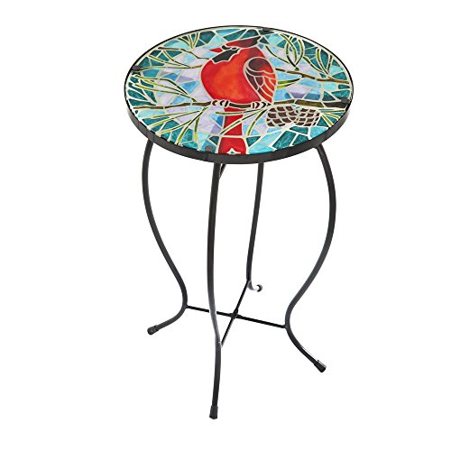 Gifted Living Cardinal Faux Mosaic Table (Outdoor Side Table Mosaic)