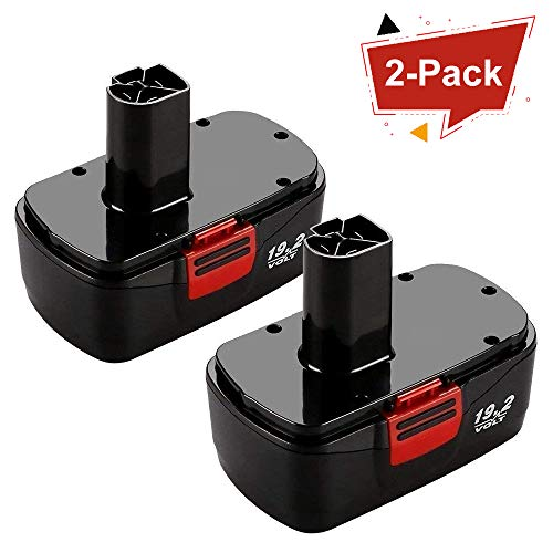 Munikind 2 Packs 19 2 Volt Replacement Battery For Craftsman Diehard C3 315 115410 315 11485 130279005 1323903 120235021 11375 11376 Cordless Drills