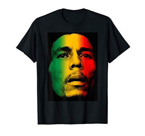 (Marley Rasta Face T-Shirt for Bob Lover T-Shirt)
