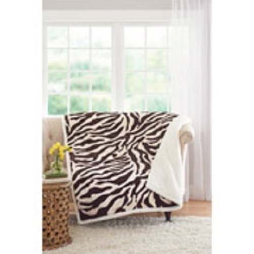 "Better Homes and Gardens 50"" x 60"" Faux Fur and Sherpa Throw from Better Homes & Gardens"