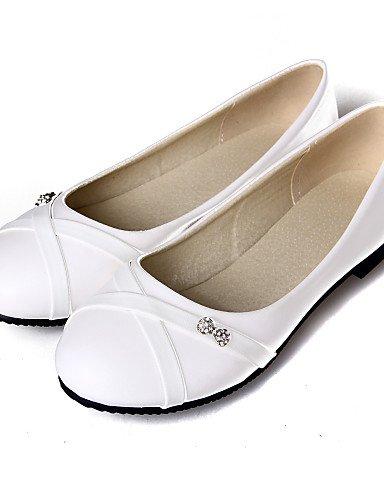 blanco rojo PDX talón us6 Casual redonda 5 amarillo de negro 7 Flats mujer zapatos eu37 de red uk4 5 cn37 plano punta 5 qInOr7IwZ