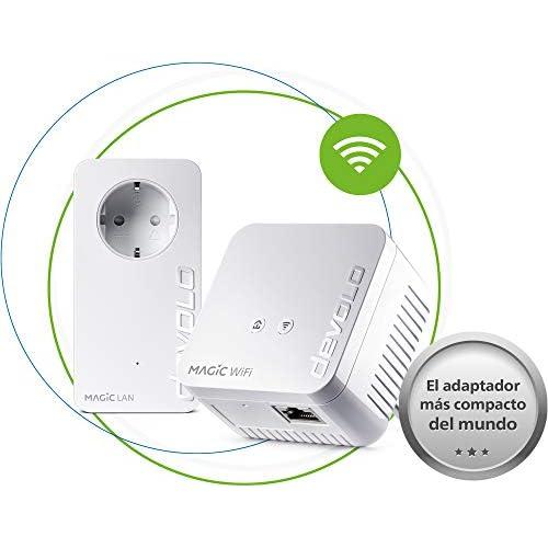 chollos oferta descuentos barato devolo Magic 1 WiFi Mini Compacto Starter Kit Powerline para una WiFi eficaz por los Cables de Corriente a través de Las Paredes y los techos Mesh tecnología G hn WiFi para Invitados