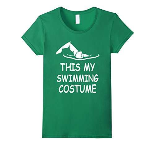 Swimming Costume For Ladies Amazon (Womens Swimming Costume Funny T Shirt XL Kelly Green)