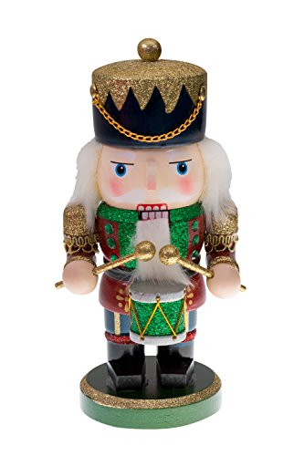 Red and Green Chubby Drummer Nutcracker by Clever Creations | Traditional Christmas Christmas Decor | 9'' Tall Perfect for Shelves and Tables | Must Have for Any Collection | 100% Wood by Clever Creations (Image #8)