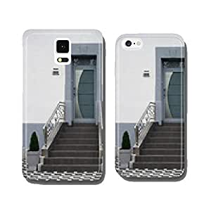 Modernized entrance of an old building in gray color cell phone cover case iPhone5