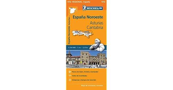 Amazon.com: Asturias Cantabria - Michelin Regional Map 572 ...
