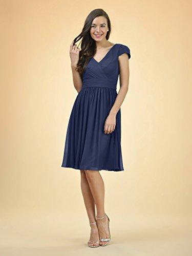 blue Bridesmaid Neck V Short Alicepub Chiffon Cap Bridal Aqua Evening Dress Sleeve Dress Party OwxBqRgSaq