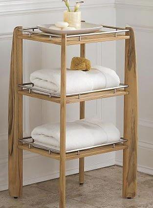 Amazon.com : New Grade A Teak Bath / Shower Shelf / Organizer ...