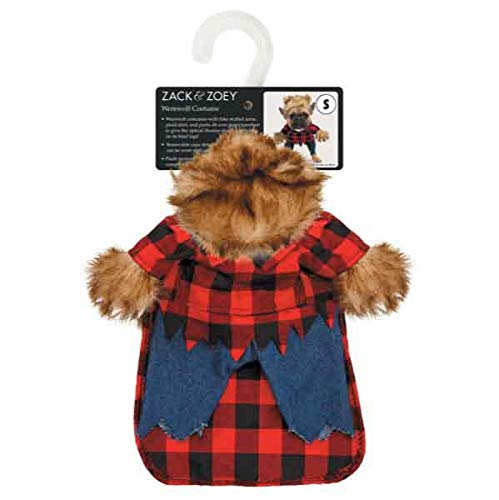 MPP Dog Halloween Costume Scary Werewolf Fake Arms Red Plaid Shirt Pants Furry Beast (Small) (Poochie Pants Dog)