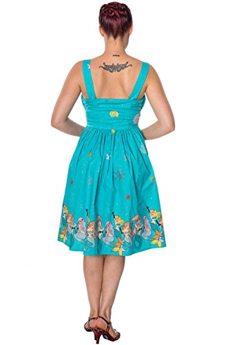 Aqua Dress Sophia Aqua Banned Dancing Days Kleid by 5265 TWSFSORq8