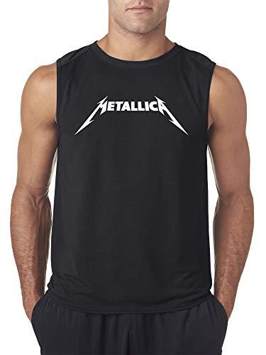 New Way 925 - Men's Sleeveless Metallica Metal Rock Band Logo 2XL Black ()