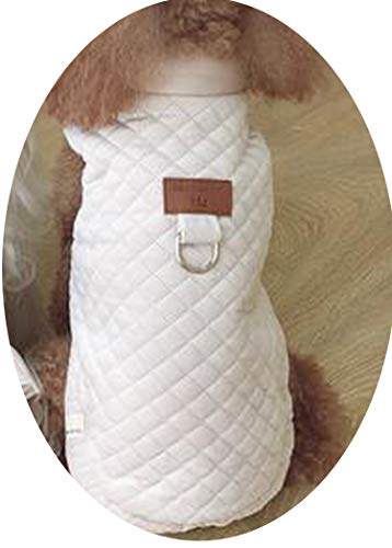 Fanatical-Night Dog Clothes Pet for Dogs Pets Clothing Winter Dog Sweater Pet Cat Dress for Dogs,Beige Coat,M