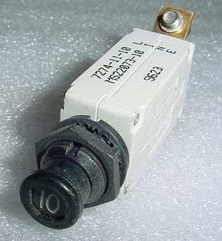 7274-11-10, MS22073-10, 10A Slim Klixon Aircraft Circuit Breaker