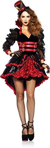 [Women's Femme Fatale Steampunk Victorian Vampire Outfit Dress Halloween Costume Medium] (Femme Fatale Halloween Costume)
