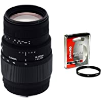 Sigma 70-300mm f/4-5.6 DG Macro Telephoto Zoom Lens with Opteka 58mm UV Filter for Canon EOS SLR Cameras Including the 10D, 20D, 30D, 40D, 50D, Digital Rebel XT, XTi, XS, XSi, & T1i Basic Facts Review Image