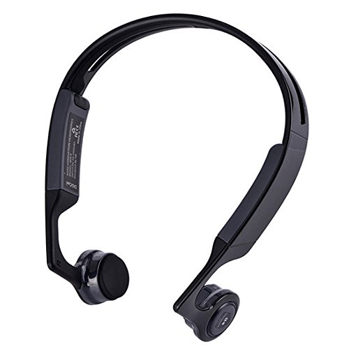 phones, Wireless Bluetooth V4.1 Open Ear Earphones for Cycling Running Gym Workout, Cheek Bone Over The Ear Headset with Mic, Sweatproof Water Resistant Sports Earpieces Headphones (Over The Ear Bluetooth Headset)