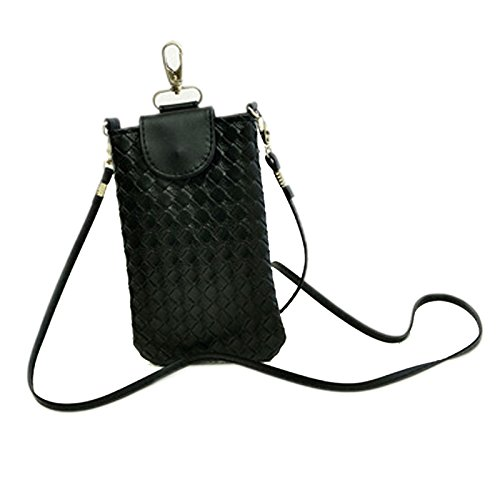 Sac Sac de Style Knitting Noir à Mode Téléphone Multicolore Coréen Hrph Bandoulière wI8pqZCw