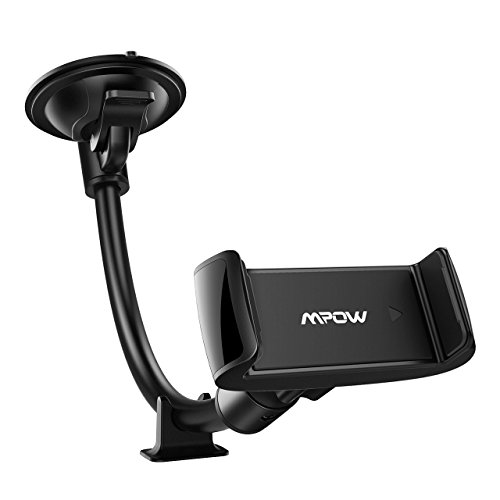 Mpow Long Arm Windshield Car Phone Mount, Dashboard Car Phone Holder, with Stable Dashboard Base for iPhone Xs Max/Xs/Xr/X/8/8Plus/7/7Plus, Galaxy S9/S8/S7 Note9/8, Google, Moto, LG and More