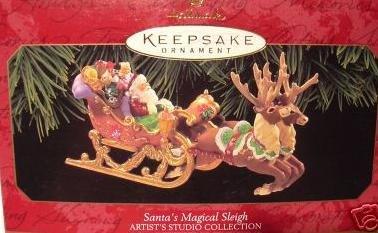 1997 Santa's magical Sleigh Hallmark Keepsake Ornament