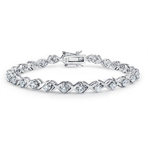 ugs Kisses 925 Sterling Silver CZ Tennis Bracelet (Kisses Tennis Bracelet)