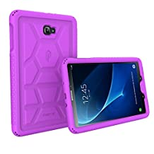 Poetic Cases TurtleSkin Heavy Duty Protection Silicone Case with Sound-Amplification Feature for Samsung Galaxy Tab A 10.1 Purple