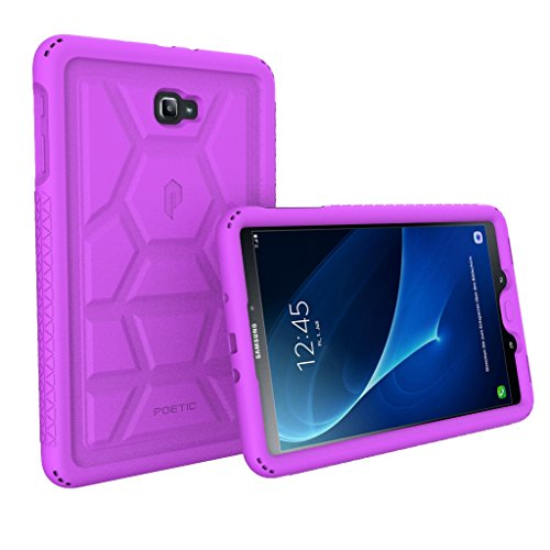 Poetic TurtleSkin Heavy Duty Protection Silicone Case with Sound-Amplification Feature for Samsung Galaxy Tab A 10.1 (2016) – Purple [NOT Compatible with The SPEN Model]