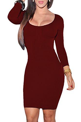 3/4 sleeve club dresses - 8