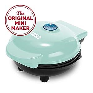 Dash DMS001WH Mini Maker Electric Round Griddle, White & Mini Maker Portable Grill Machine + Panini Press with Recipe…