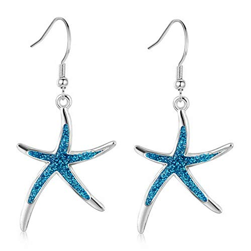 Rhame Fashion Women Lady Girl Crystal Rhinestone Flower Starfish Hook Earrings Jewelry | Model ERRNGS - 20165 |