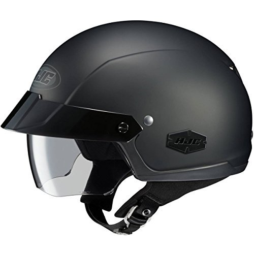 (HJC Solid IS-Cruiser Half (1/2) Shell Motorcycle Helmet - Matte Black/X-Large)
