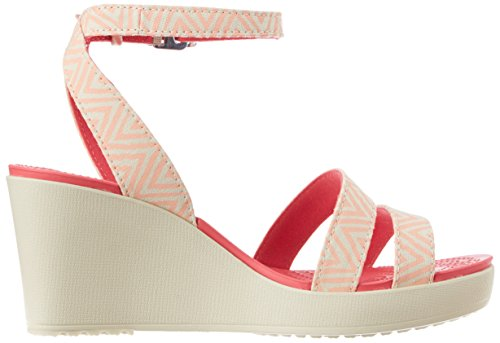 37 Leigh Eur Graphique Femmes Wedge Melon 5 Crocs stucco qF7p66