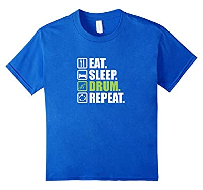 Funny Druming T Shirt Eat Sleep Drum Repeat