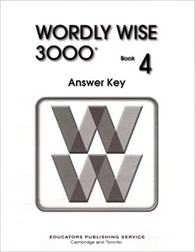 Wordly wise 3000 book 4 answer key cheryl dressler 9780838828489 wordly wise 3000 book 4 answer key answer key edition fandeluxe Image collections