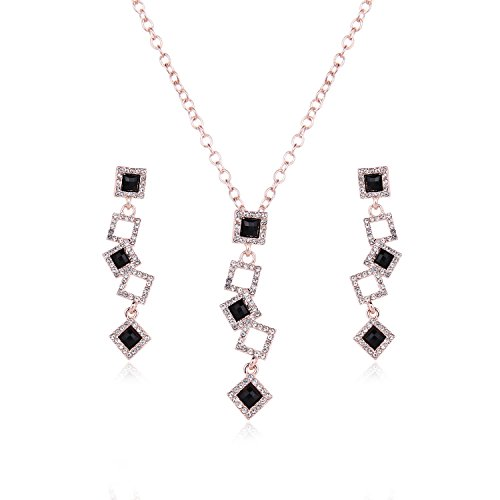 Akvode Womens Square AAA Cz Jewelry Sets Cute Ball Pendant Necklaces Stud (Cheap Dance Costumes From China)