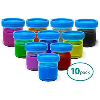 c024b2dd014e Slime Cups Paint Storage Containers with Lids for Kids, 90ml (10 Pack)