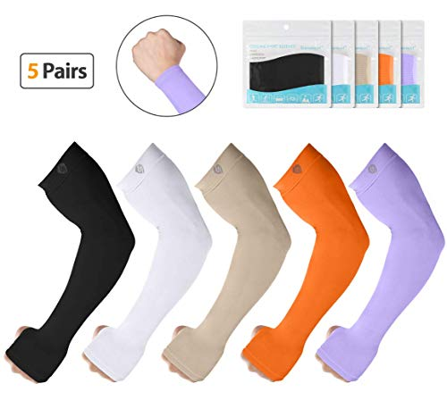 SHINYMOD UV Protection Cooling Arm Sleeves Men Women Sunblock Cooler Protective Sports Running Golf Cycling Basketball Driving Fishing Long Arm Cover Sleeves (Importance Of Air Conditioning In Human Life)