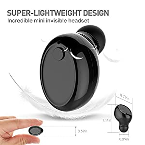 Bluetooth Headset, Titita Bluetooth V4.1 Wireless Mini Invisible In-ear Bluetooth Headphones Earbuds with Built in HD Mic and Wireless USB Magnetic Charging for IOS and Android Cell Phones
