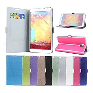 NEW Silk Pattern Leather Full Body Case with Card Slot for Samsung Galaxy Note 3 , White